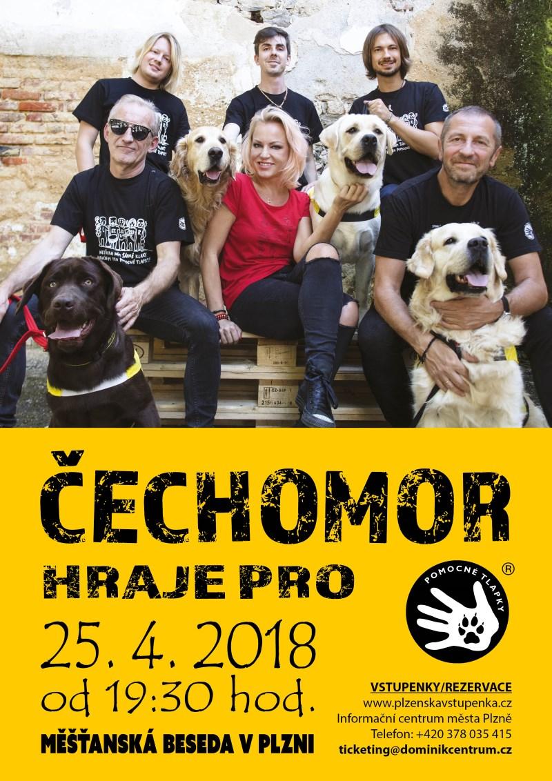 Čechomor hraje pro Pomocné tlapky